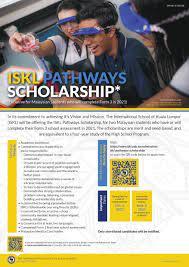Biasiswa ISKL Pathways untuk Tingkatan 3